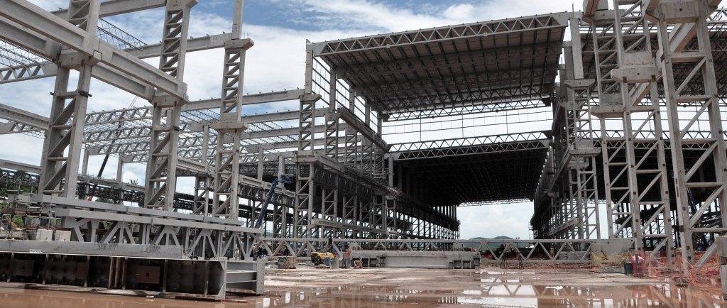 Construtora de galpão pré-moldado em Praia Grande