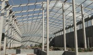 Estrutura de concreto para Galpão